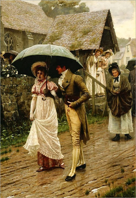 Painting by Edmund Blair Leighton