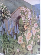 The hollyhocks from Louise Beebe Wilder's garden at Balderbrae
