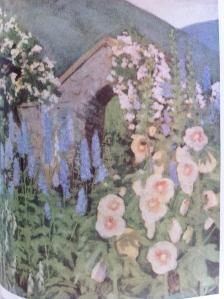 The hollyhocks from Louise Beebe Wilder's garden at Balderbrae