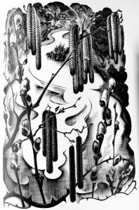 Engraving by Agnes Miller Parker