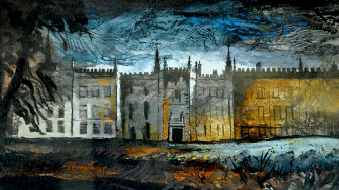 The art of John Piper evokes an atmosphere similar to that of Bowen's novels