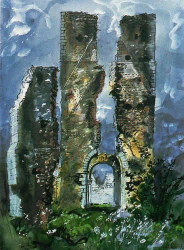 A John Piper painting of ruins